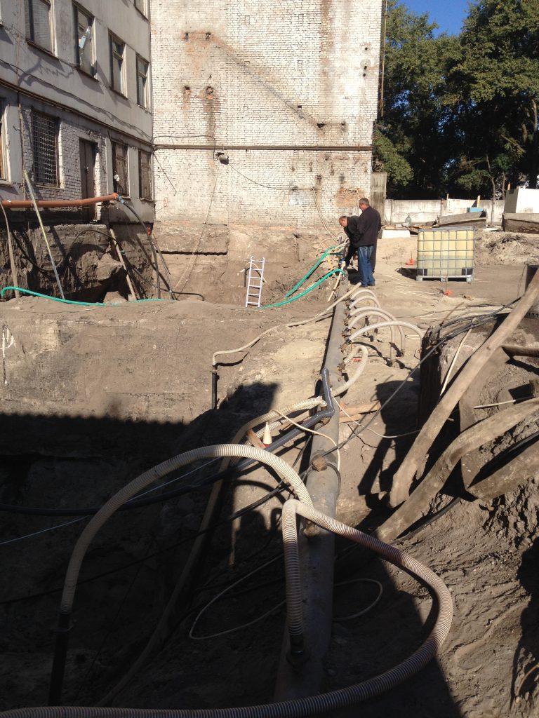 Водопонижение грунтовых вод при строительстве фундамента в Черкассах