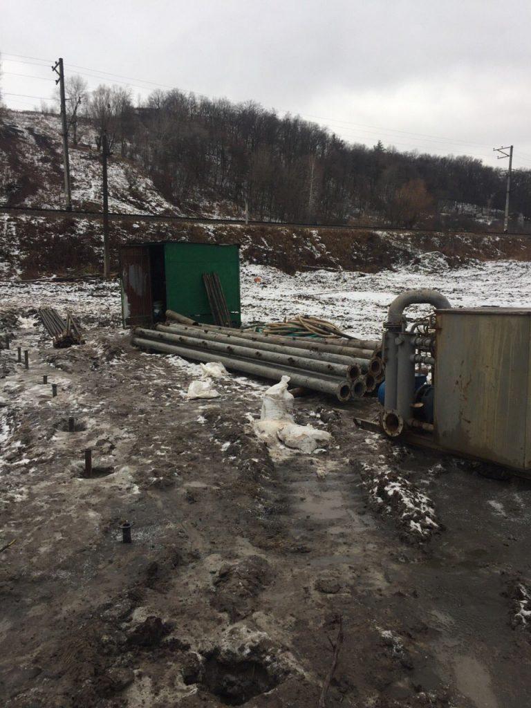 Понижение грунтовых вод при ремонте газовой магистрали в селе Чапаевка