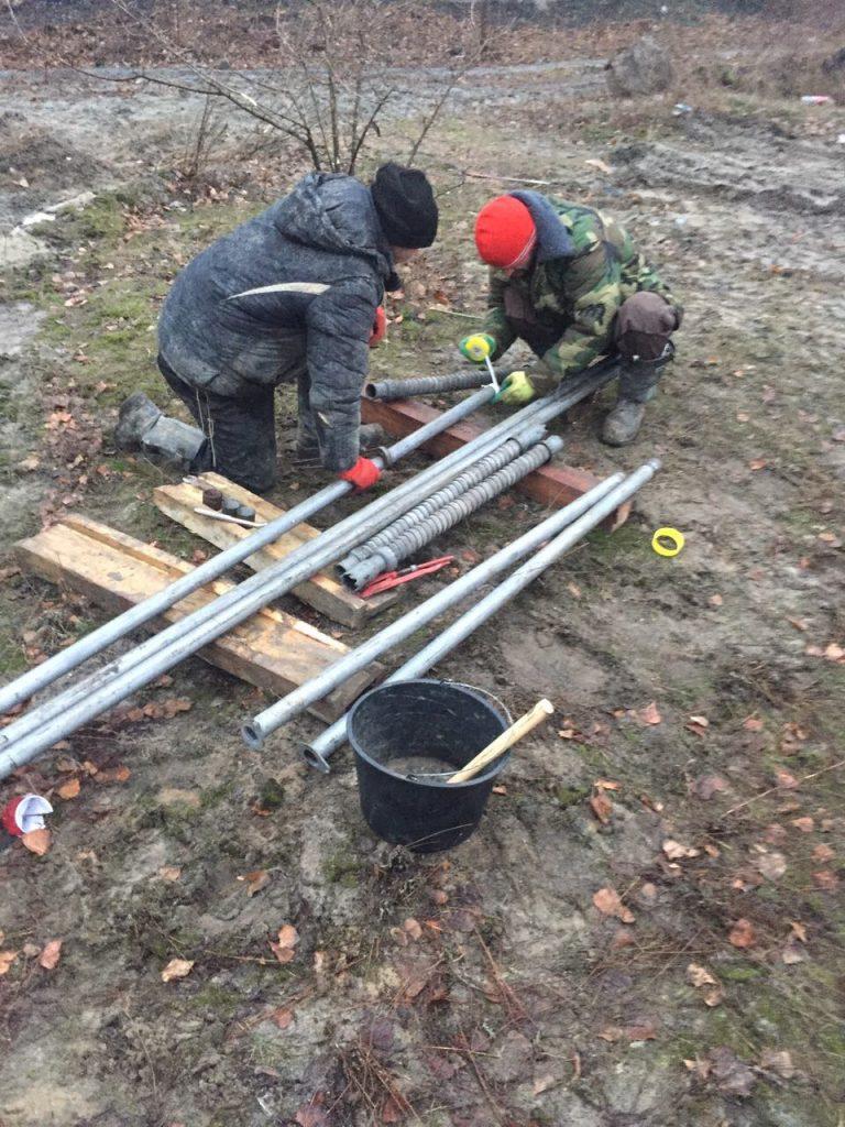 Монтаж оборудования для снижения уровня грунтовых вод